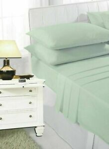 100% Poly Cotton Fitted Sheets Flat Sheet Single Double King Super King Size