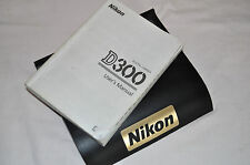 Genuine NIKON D300S Digital SLR Camera Original USER GUIDE Instruction Manual