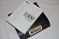 Genuine Nikon D300 fotocamera reflex digitale guida utente originale manuale di istruzioni