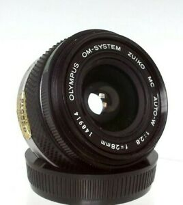 Olympus Om System G Zuiko F3.5/28Mm Wide Angle Lens + Caps