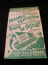 Partitur Mambo fantasque Granito Baio von Castille