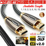 PREMIUM ULTRAHD HDMI Cable V2.0 4K HD 2160P 3D HDTV Lead 1m/2m/3m/5m/10m/15m/20m