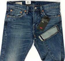 Levis Premium 511 Slim Stretch Selvedge Jeans Distressed Big E sz 31,33,34,38