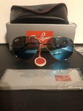 Ray-Ban RB3026 Silver Aviator Sunglasses - Blue Unisex
