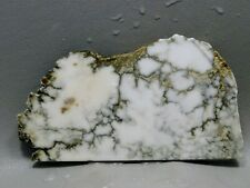 Lapidary Stone Slab Howlite White Rough Rock Cabbing Material #4
