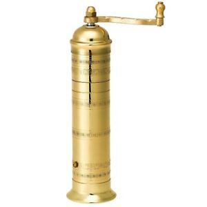 """Brass Pepper mill Alexander Greek  #104  9'.2"""""""