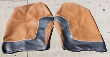 "Marine Boat Seat Cushion / Project Fabric Brown / Black Fabric 2 Pcs 44"" x 31"""