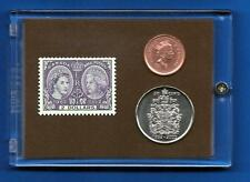 Diamond Jubilee 2 dollar Mint Stamp 2012  50 cent Coin  1 cent Coin  BU MS