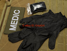 5x Pairs Black Gloves IFAK EDC HSGI Bleeder Blowout Combat TCCC Kit Medic Gear
