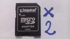 2X Kingston ADATTATORE TF MICROSD SDHC a SD CARD Adapter MEMORIA reader lettore