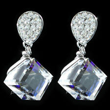 Dangle Cube Earrings use Swarovski Crystal SE527