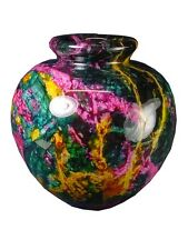 BUTW  7 Color Serpentine Jade Vase Urn  Sculpture Consilio Decor 3619K abe