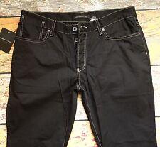 NEW John Varvatos Pants in Black Size 30x32 Bowery Low Rise SLIM 100% Cotton