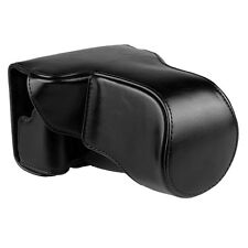 Camera Case Cover Bag Pouch for Canon EOS-M3 New Black PU Leather with Strap