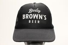 BARLEY BROWN'S BEER - TRUCKER STYLE ADJUSTABLE SNAPBACK BALL CAP HAT!