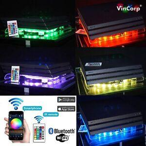 WiFi Multicolor Playstation 4 PS4 PRO Gamer RGB LED Design Kühler Lüfter Ständer