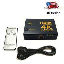 4K 2k 3 Port HDMI 1.4 1080P Switch Splitter For HDTV Blu-Ray Xbox 360 PS3