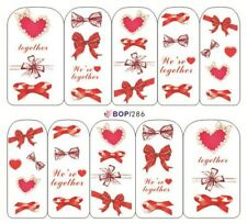 Nail Art Water Decals Transfer Stickers Valentines Love We're Together (BOP286)