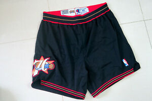 Allen Iverson Champion 76ers Sixers Game Issued Worn Used Road Shorts