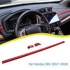 Red Gloss Center Console Dashboard Moulding Cover Trim For Honda CRV 2017, 2018