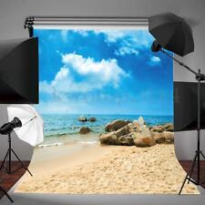 3x5FT Vinyl Blue Sky Beach Backdrop Photography Background Photo Studio Prop