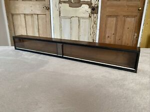 Vintage Wooden Long Wall Display Case Shelf For Models Etc