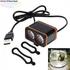 8000LM 2 x CREE XM-L T6 LED 4-Mode USB Charging Bike Bicycle Headlight Torch