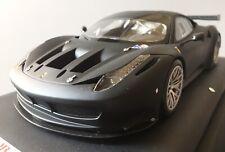 FERRARI 458 ITALIA GT2 PLAIN BODY MATT BLACK (2011) - MR 1/18 (FE05C)