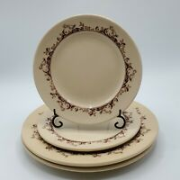 "Lot of 4 VTG Beige Mayer China Restaurant Ware Curtis  9"" Dinner & 6.75"" Plates"