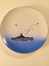 U.S.S. Alabama Navy Ship Collector Plate Vintage Military Souvenir Made in Japan
