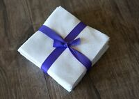 """102 White On White pre cut charm pack 5"""" squares 100% cotton fabric quilt"""