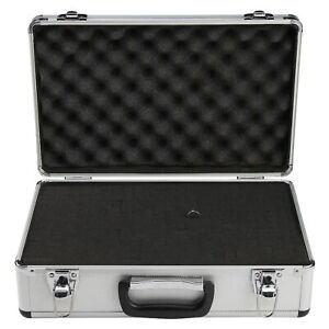 Large Hard Aluminium Flight Case Foam Camera Photography Carry Storage Tool UK