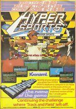 Hyper Sports Kjonami Imagine 1985 Vintage Magazine Advert #5241