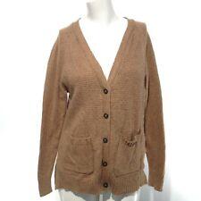MADEWELL Women's Brown Long Sleeve Button Down Knit Cardigan Sweater Size Medium