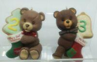1994 1995 BABY'S SECOND & THIRD CHRISTMAS Hallmark Keepsake Ornament Teddy Bear