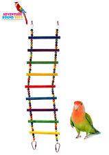 ADVENTURE BOUND FLEXIBLE MULTI COLOUR LARGE BIRD LADDER COCKATIEL CAGE TOY 5915