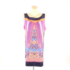 COMMA Kleid Dress Etuikleid Tunika Multicolor Gr. 42 XL