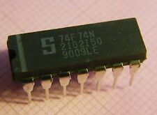 10x 74F74N Dual D-Flip Flop, Signetics