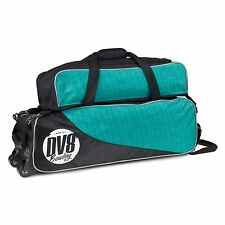 DV8 Circuit Triple 3 Ball Tote Bag with Shoe Pocket Tow Wheels Teal