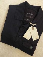 Men's Button Hip Length Collared Cotton Blend Coats & Jackets