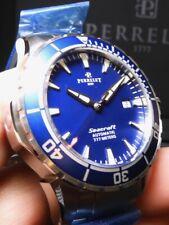 Perrelet Seacraft three 3 hands Blue 42mm watch A1053/C 100% NIB RARE $3550 List