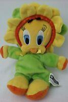"Plush Tweety Bird Warner Brothers Studio Enchanted Garden Flower 7"" Bean Bag"