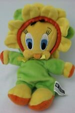 "WARNER BROTHERS STUDIO TWEETY BIRD ENCHANTED GARDEN FLOWER 7"" BEAN BAG PLUSH"