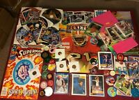 Junk Drawer Lot Collectibles, Superman, Football Cards, Misc #10/20/2P