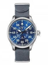 NEW Laco 862101 Pilot Basic Aachen Blaue Stunde 42 Blue Face Automatic Watch