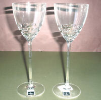 Waterford John Rocha FOLIO#2 White Wine SET/2 Glasses Crystal 152016  New