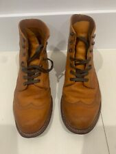 New Wolverine 1000 Mile Addison Wing Tip Leather Boots Sz. 8 D Without Box