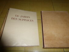 Octave MIRBEAU Le JARDIN des SUPPLICES. EAUX- FORTES de Pierre LEROY. TBE