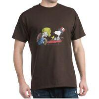 CafePress Snoopy Vintage Schroeder Dark T Shirt 100% Cotton T-Shirt (1599756840)