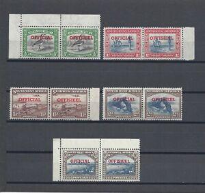 SOUTH WEST AFRICA 1951-52 SG O23/7 MNH Cat £55